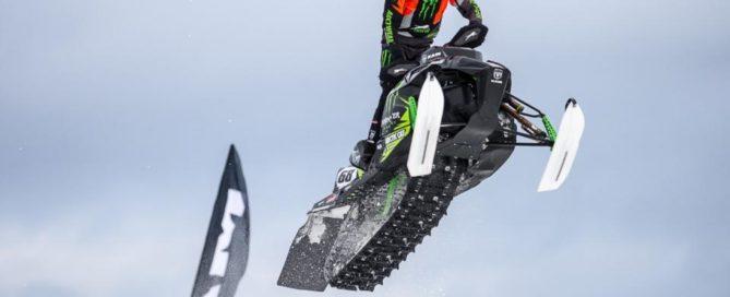 Tucker Hibbert soars through the air