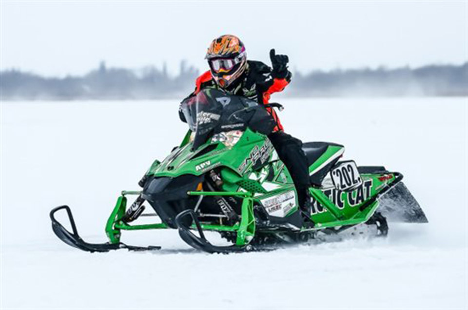 Hunter Houle snowmobile racing