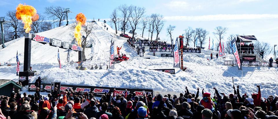 Kody Kamm wins snowmobile snocross championship