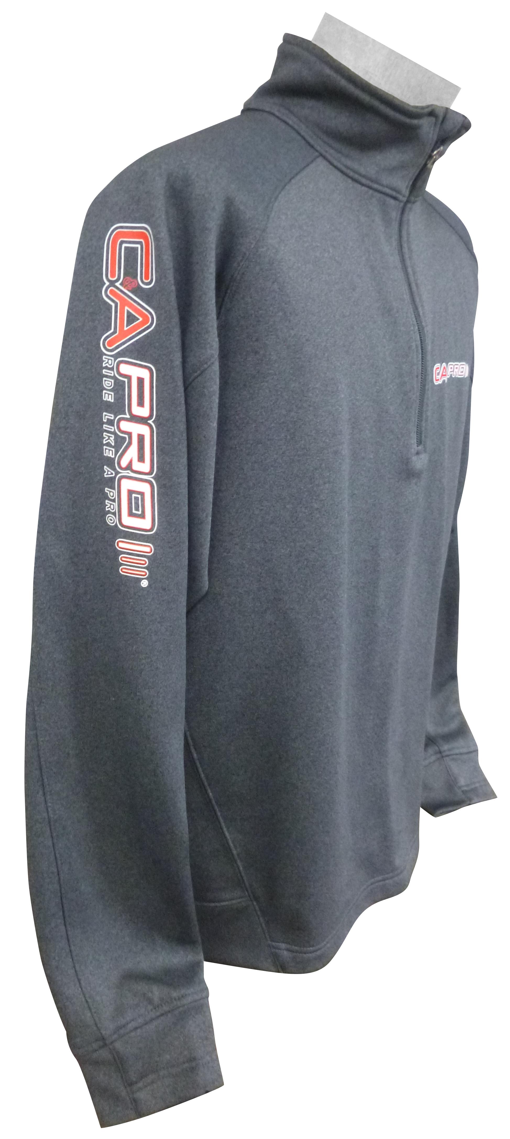 Gray 1/4 Zip Pullover printed sleeve