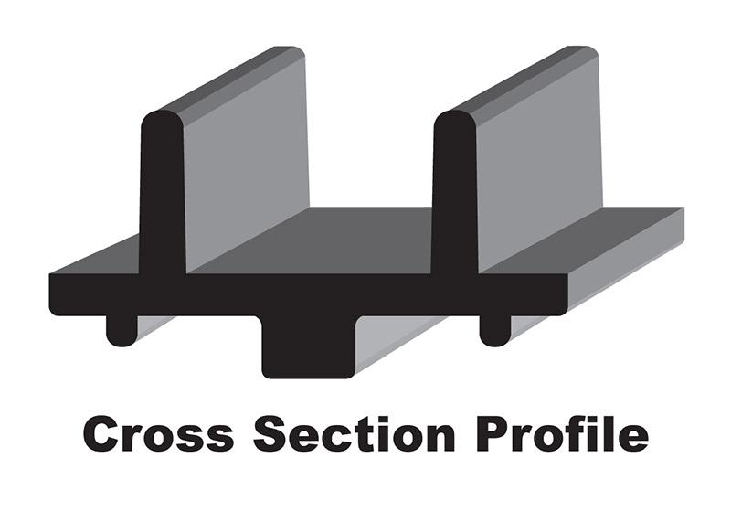 C&A Pro Xtreme Performance Trail Snowmobile Skis 3D Profile