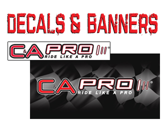 C&A Pro Snowmobile Ski Decals & Banners