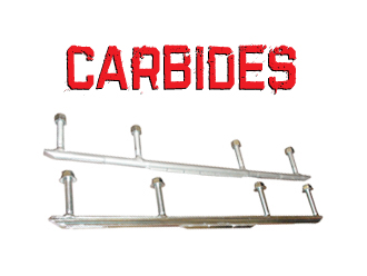 Carbides for C&A Pro Snowmobile Skis