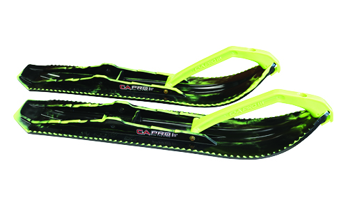 C&A Pro Snowmobile Skis black and lime